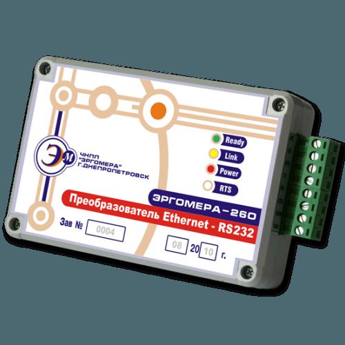 Преобразователь интерфейсов Ethernet – RS232 Эргомера – 260.802.RS232