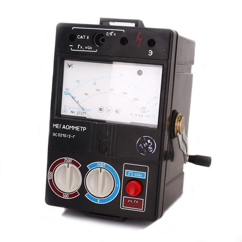 Мегаомметр ЭС0210/1-1г, ЭС0210/2-2г, ЭС0210/3-3г.